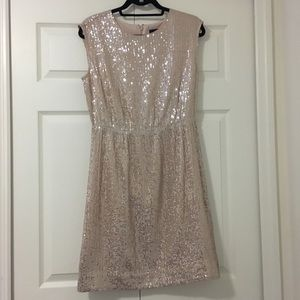 NWT J.Crew Cap-sleeve Sequin Dress